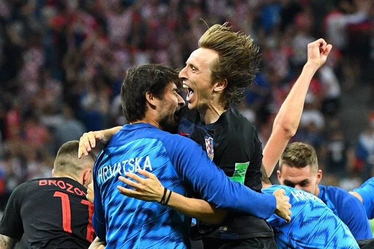 El festejo de Luka Modric tras el pase de su selección a los cuartos de final