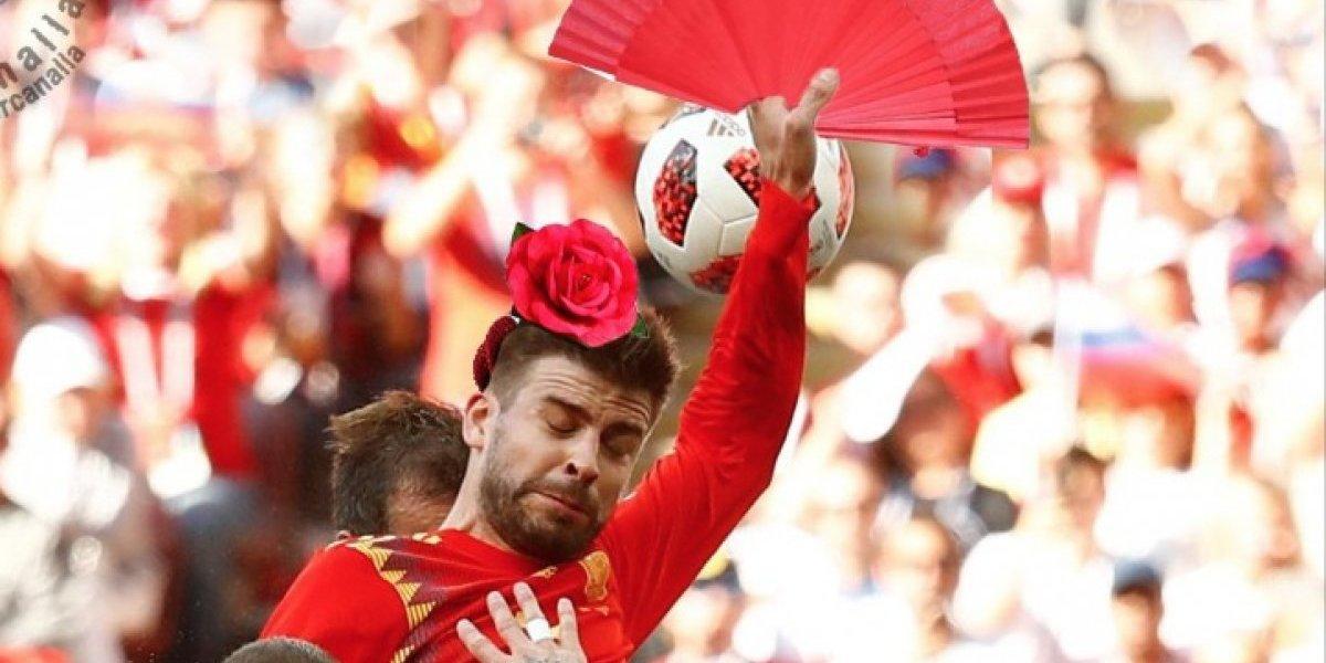 Gerard Piqué desata los memes más crueles del partido España vs. Rusia