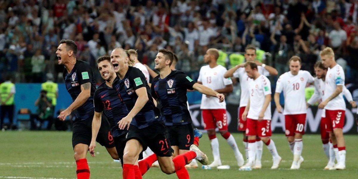 Croacia supera en penales a un duro Dinamarca y se candidatea