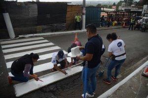 Paso de cebra en Ciudad Peronia