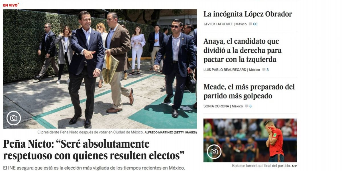 Prensa internacional coincide en dar a López Obrador como el gran favorito de las elecciones