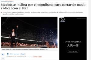 Prensa internacional coincide en dar a Obrador como el gran favorito
