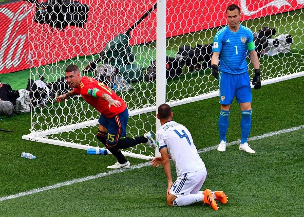 Sergio Ramos festejó aunque no fue suyo el gol