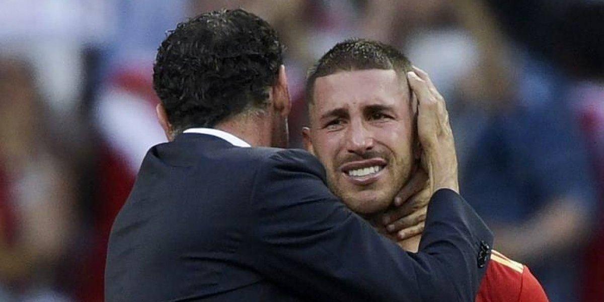 El gesto de Sergio Ramos que se hace viral tras la eliminación de España
