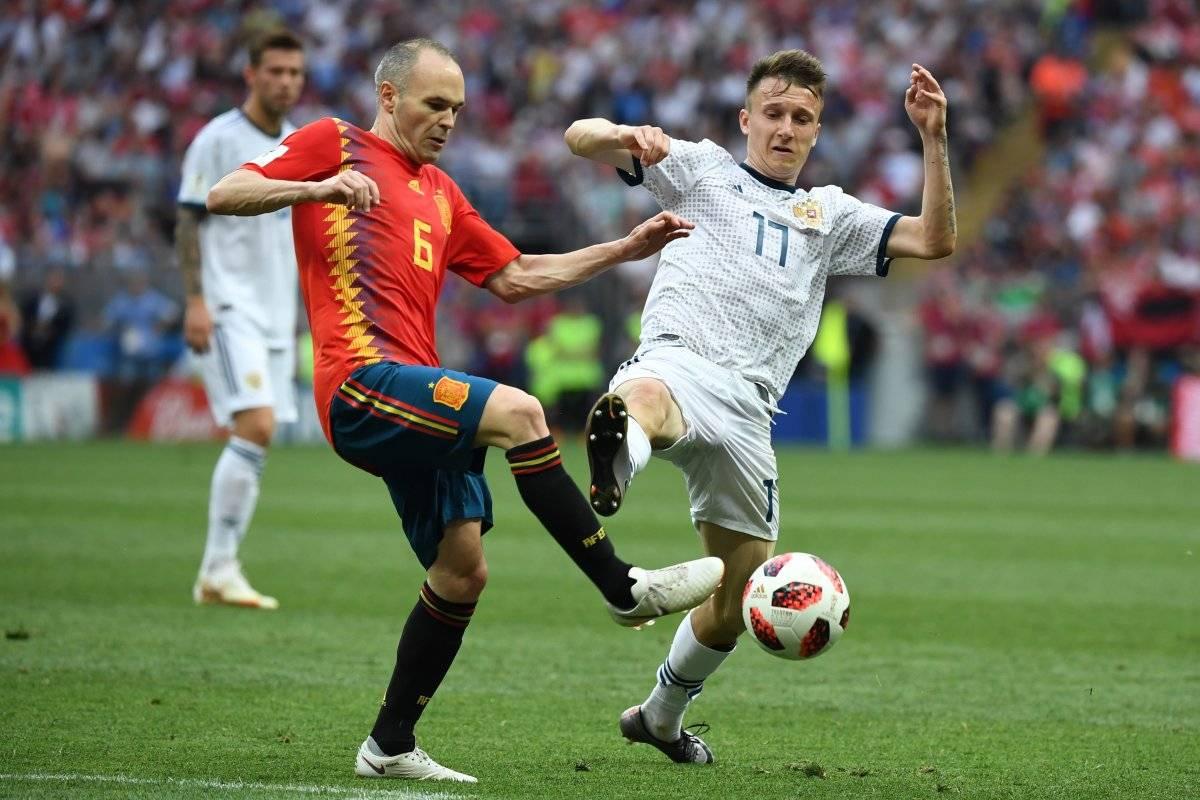 Último juego de Iniesta ante Rusia.