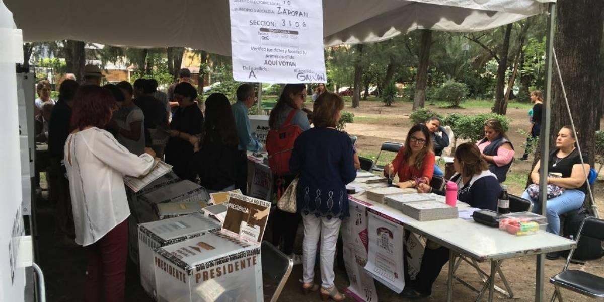 Con retraso en apertura de casillas, inicia proceso electoral en Jalisco