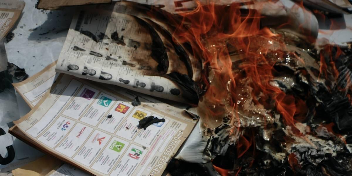 Michoacán: roban y queman papelería electoral
