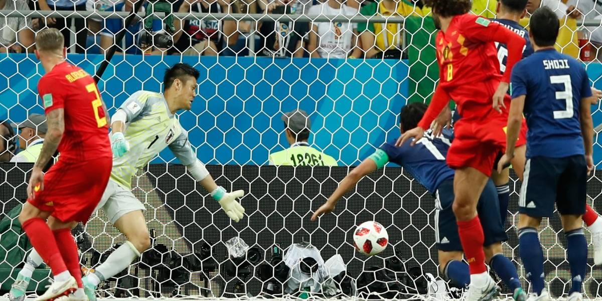 La afición enloquece con el juego entre Bélgica y Japón