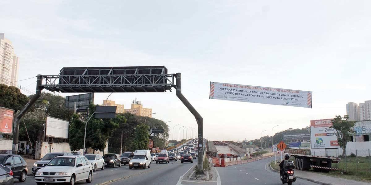 São Bernardo: acesso à Via Anchieta no km 20 é bloqueado