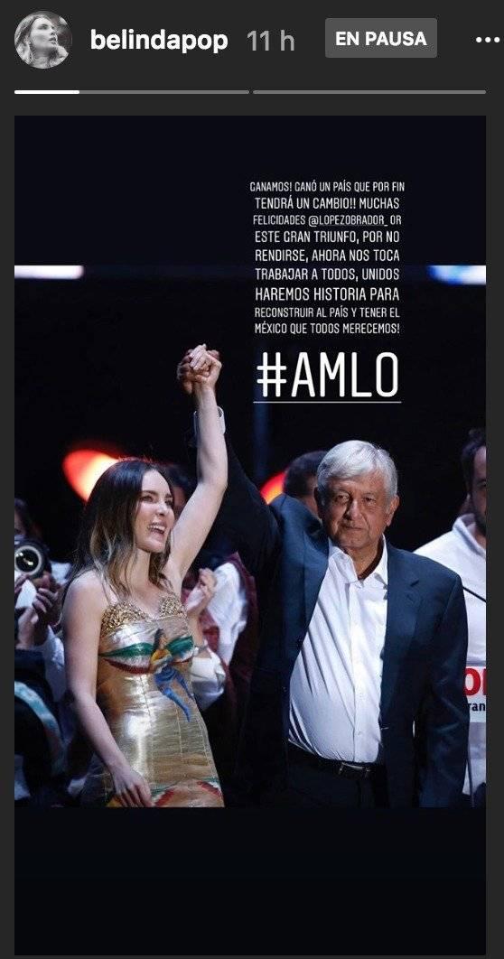 Belinda y Andrés Manuel