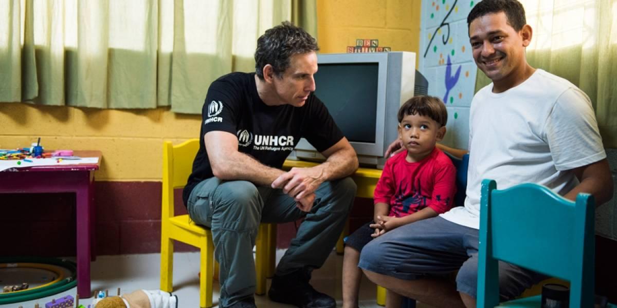 Ben Stiller se reunió con refugiados en Guatemala