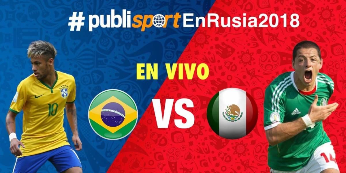 EN VIVO: México enfrenta a Brasil por el pase al quinto partido del Mundial