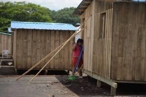 campamentos en finca La Industria para afectados por erupción del volcán de Fuego