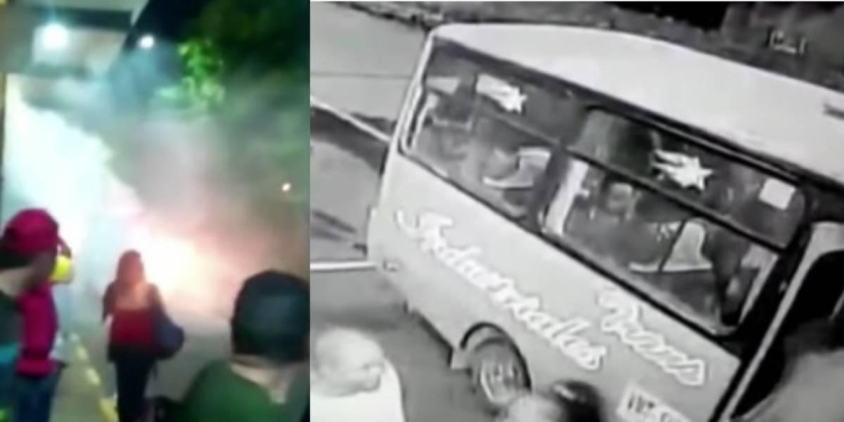 Video: bus se incendia segundos después de que 16 pasajeros descendieran