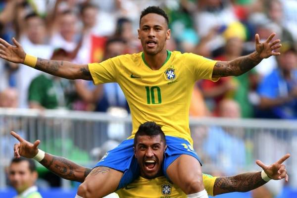 Video de los goles de Brasil VS México