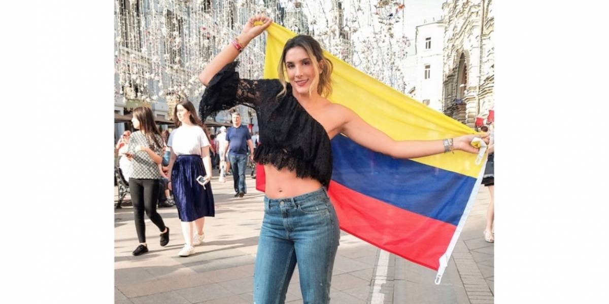 Daniela Ospina dedicó este mensaje a arbitro de Colombia VS Inglaterra