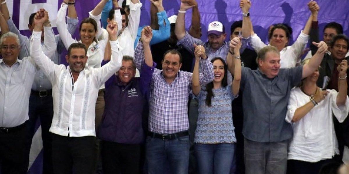 Morena avanza en seis de nueve gubernaturas