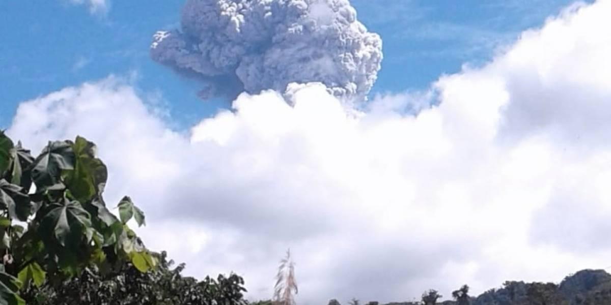 Instituto Geofísico: Se reporta caída de ceniza del volcán Reventador en Pichincha y Napo