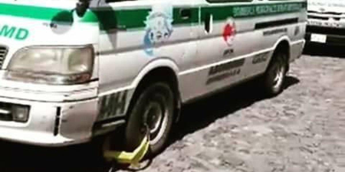 Municipalidad de Antigua justifica colocación de cepo a ambulancia