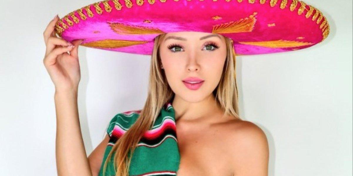 El candente semidesnudo de explayboy para consolar a México