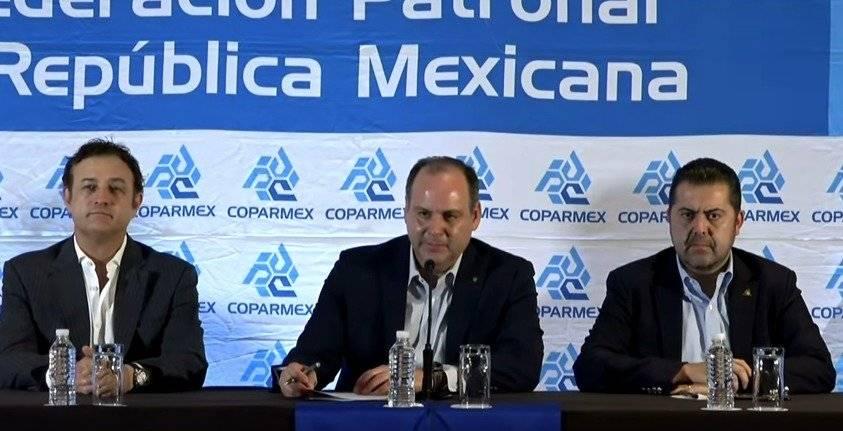 Conferencia de prensa de Coparmex