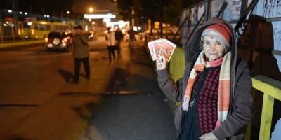 Eva Evadista Beteta vende productos en El Trébol