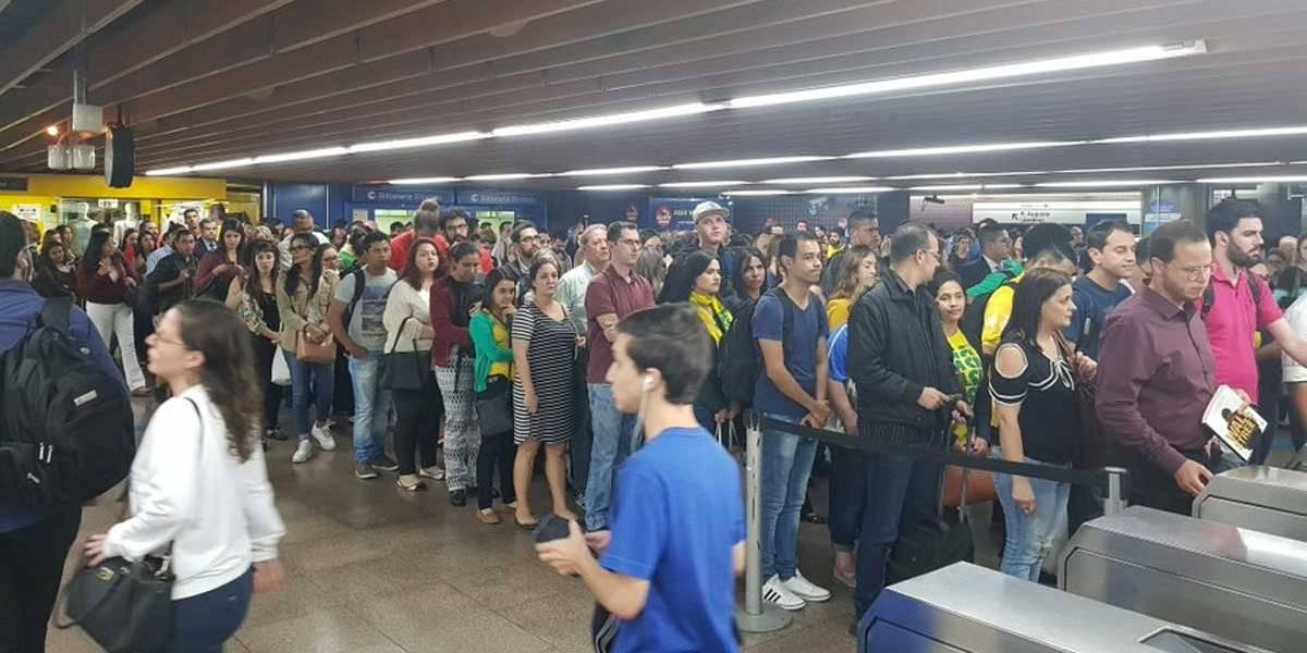 Metrô: linha verde opera com velocidade reduzida por falha em equipamento