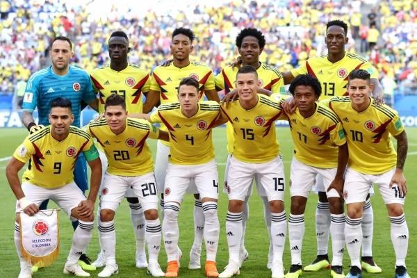 Formación titular de Colombia VS Inglaterra
