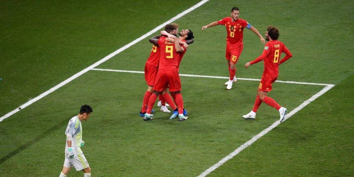 Bélgica remonta ante Japón y avanza a cuartos de final