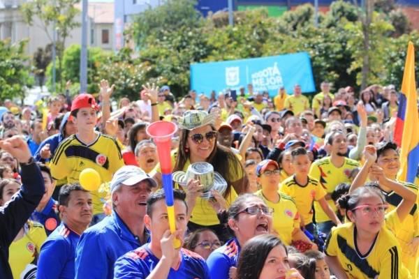 Dónde ver el partido de Colombia vs Inglaterra en Bogotá