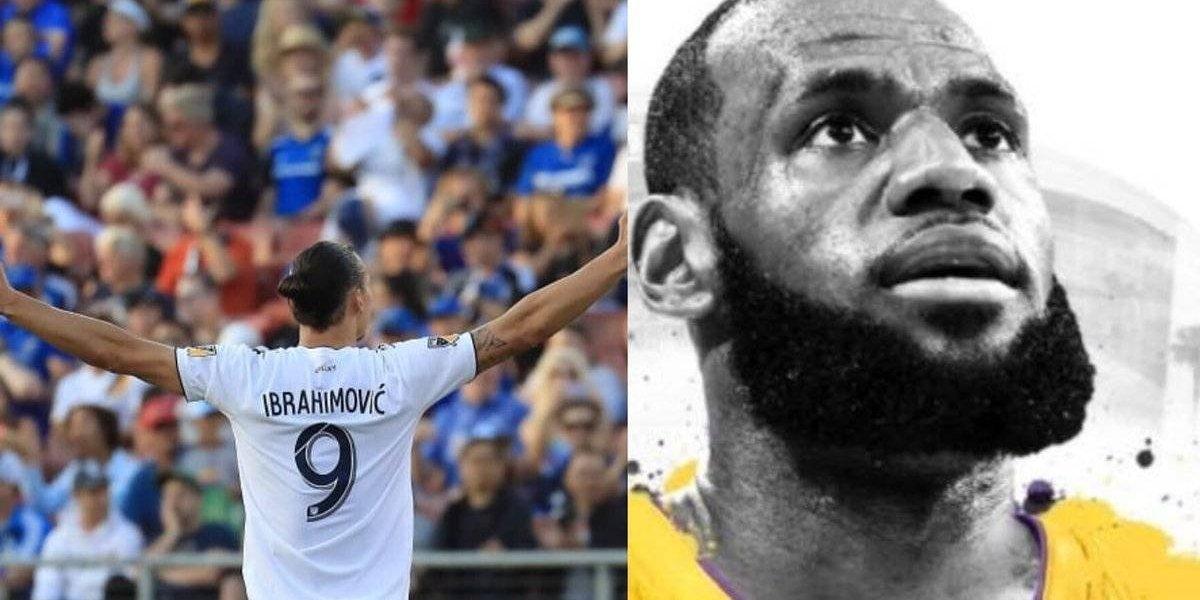 """Zlatan Ibrahimovic y su bienvenida a Lebron: """"Ahora Los Angeles tiene un Dios y un Rey"""""""