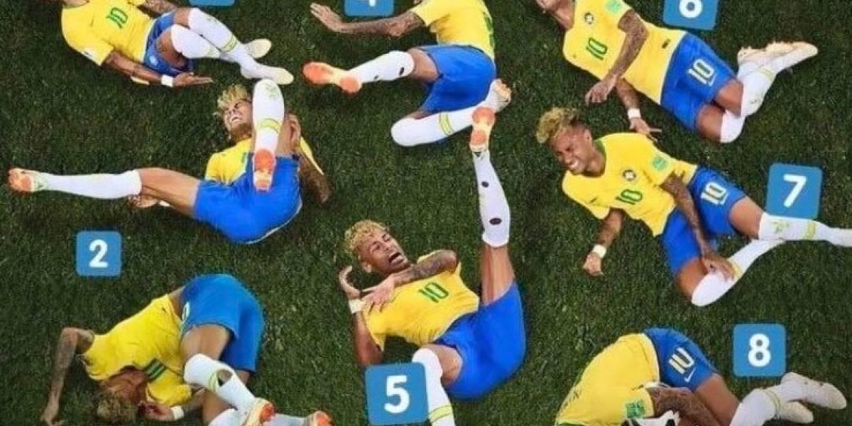 Los memes del show de Neymar en el partido de Brasil ante México