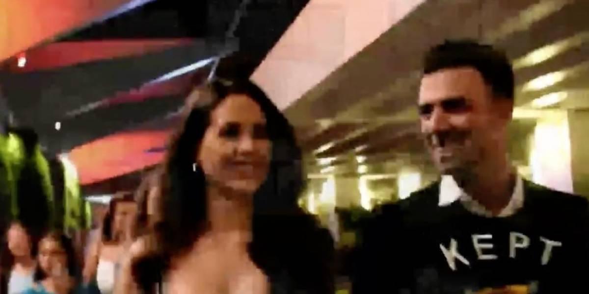 Captan agarrados de mano a Danna Hernández y Jencarlos Canela