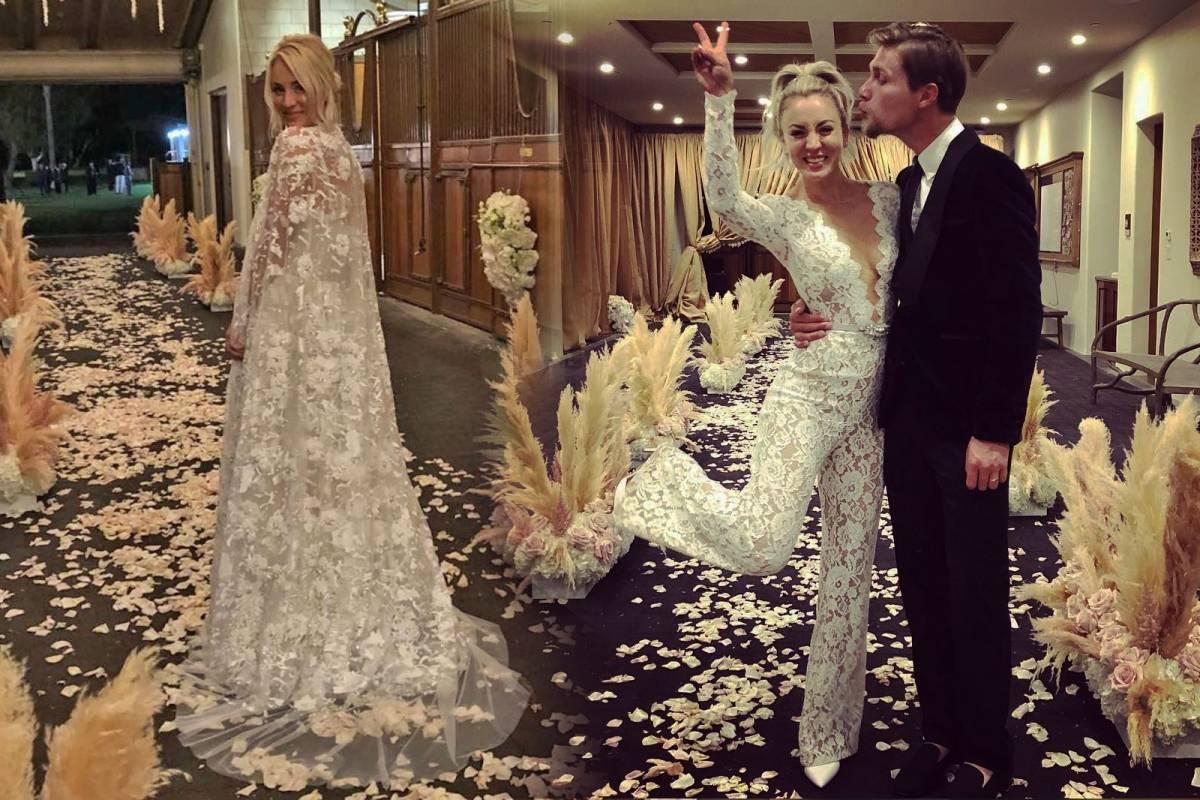 vestido de novia kaley cuoco