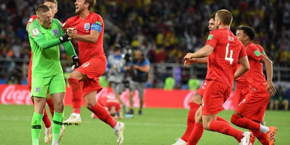 Inglaterra termina con su maldición de los penaltis en mundiales