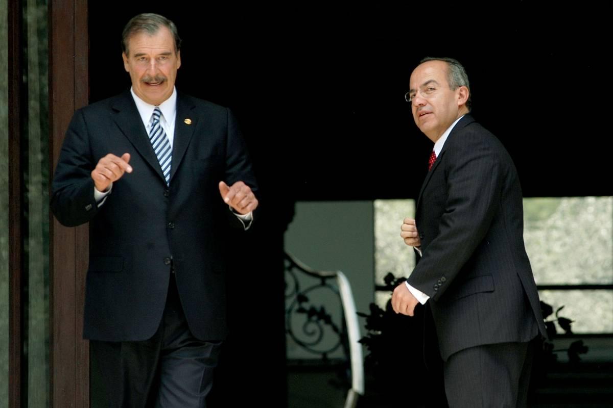 Vicente Fox y Felipe Calderón en 2006 Foto: Cuartoscuro