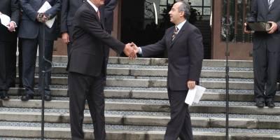 Felipe Calderón y Enrique Peña Nieto en julio de 2012