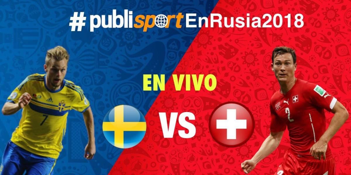 Suecia vence a Suiza y avanza a cuartos de final