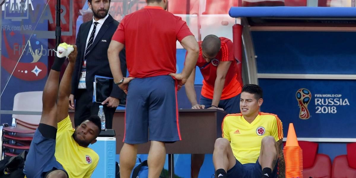 ¡James Rodríguez y Miguel Ángel Borja no van ni al banco de suplentes contra Inglaterra!