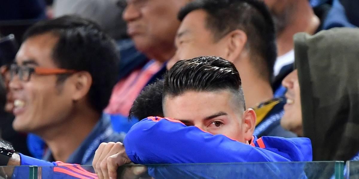 La emotiva foto que publicó James Rodríguez tras eliminación de Colombia del Mundial de Rusia