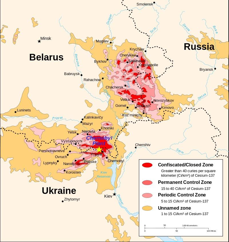Chernobyl mapa