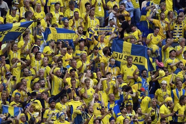 La afición sueca celebró la victoria de su selección