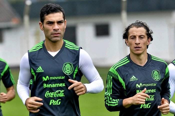 Rafa Márquez y Andrés Guardado