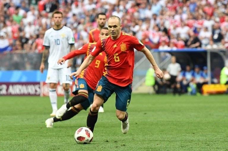 Iniesta durante el partido de Rusia, donde España quedó fuera del Mundial