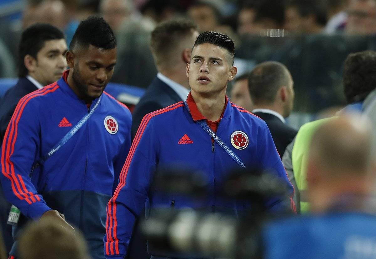 Colombia vs. Inglaterra: Así vive James Rodríguez el partido en Moscú, Rusia AP