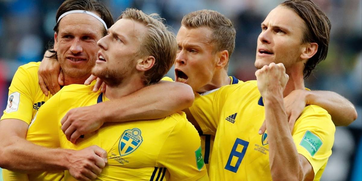 ¡Toque de suerte! Suecia hace historia y se mete en cuartos tras vencer a Suiza