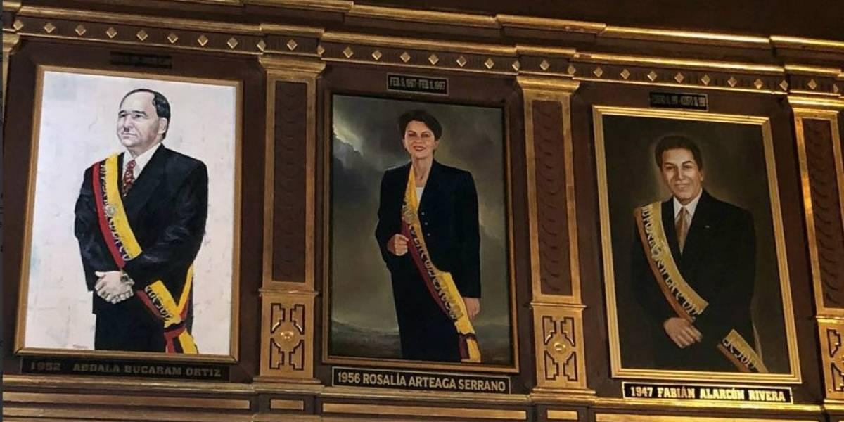 El retrato de Rosalía Arteaga tardó 21 años en ser colocado en el Salón Amarillo de Carondelet