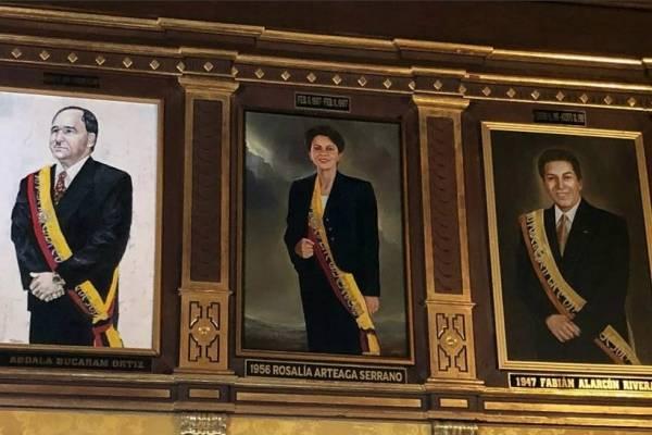 El retrato de Rosalía Arteaga ya se encuentra en el salón amarillo de Carondelet