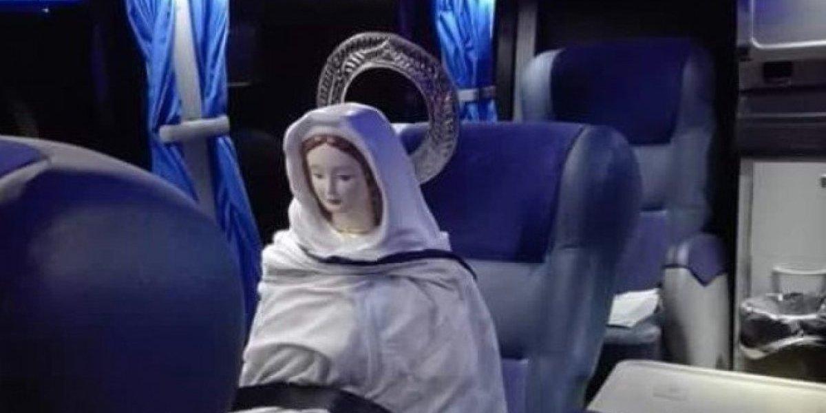 """Mejor que lo del """"feto ingeniero"""": fieles le pagaron el viajeen bus a la """"Virgen"""" para que """"ayude"""" a frenar la legalización del aborto en Argentina"""