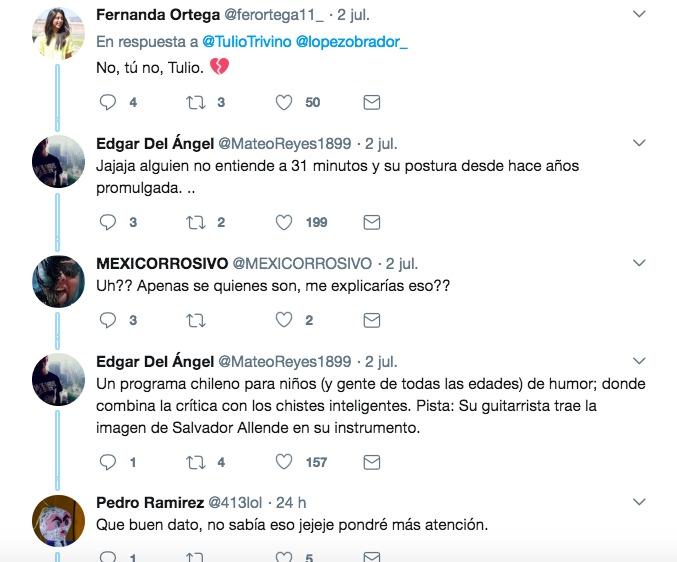 Mira a Tulio Triviño de 31 Minutos felicitando a AMLO, el nuevo presidente de México